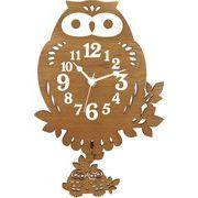 ヂャンティ商会 振り子時計 フクロウ ブラウン