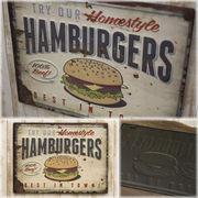 レクトエンボスプレート★ハンバーガーHamburgers★