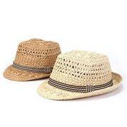 同梱でお買得★夏季新作 ■子供用★麦わら帽子★ファション★シンプルなデザイン 2色