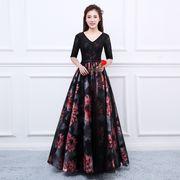 人気新品 トレンド パーティードレス フェミニン花柄 ロングドレス ウェディングドレス