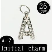 イニシャル チャーム 26種 (A~Z) ペンダント アルファベット ステンレス アクセサリーパーツ オリジナル