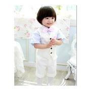 5点セット 高品質 可愛い 子供スーツ フォーマル タキシード 男の子キッズスーツ  かっこいい