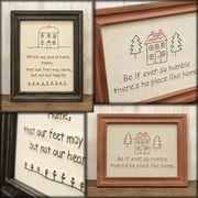【SALE/値下げ】2色展開 お洒落で可愛い刺繍ウォールデコ HOME♪【Wall Decoration HOME】