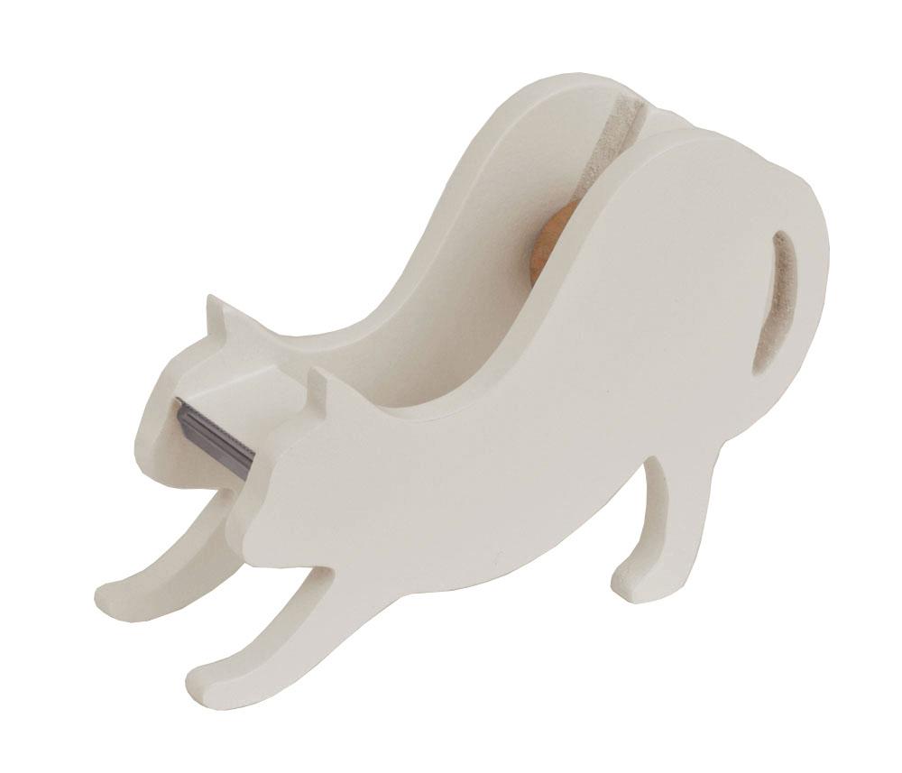 【 SALE 】 白猫テープカッター(伸び猫) 【 ディアキャッツシリーズ 】