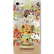 カピバラさん×ホラグチカヨ iPhone7対応ハードケース カフェ MKH-01A