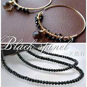 bc138584◆5000以上【送料無料】3円/1粒 ダイヤモンドの輝き 天然宝石 ブラックスピネル1連