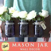壁掛け メイソンジャー 3連 Ball Mason jar パープル