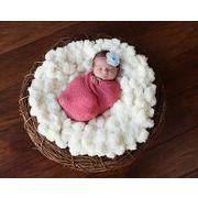 ベビー写真撮影 ウール毛布  ボール毛布 写真毛布 出産祝い 新生児 記念撮影 赤ちゃん 新生児