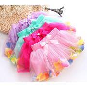 【自社工場】花びら キッズ 子供 女の子 スカート チュールスカート 4色 1-4歳