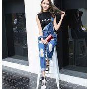 2017♪【海外買付】ハングルセレブstyle ゆったり ワンマイルウェア 連体式  パンツ  june-two-9781