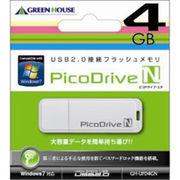 GREENHOUSE USBフラッシュメモリ ピコドライブN 4GB GH-UFD4GN