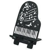 【 スマートフォンスタンド (ピアノ) ブラック  】