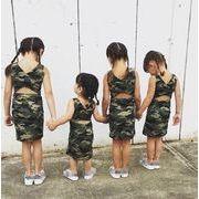★キッズファッション 夏★女の子 ワンピース 迷彩柄