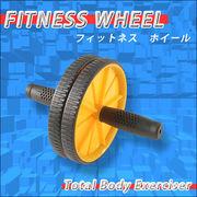 GOGO!フィットネス!体幹を鍛えるパワーホイール/フィットネス車輪/イエロー