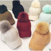 韓国風レディース帽子★秋冬新しいスタイル★ふわふわファー帽子★