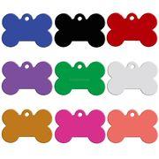ボーン(骨)の形の名入れ用IDタグ 犬・猫・小動物用 迷子札 3.1x2.1cm  20個セット