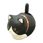 ゆらゆらソーラーちぎり和紙座り猫/黒猫