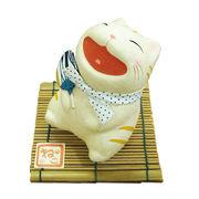ちぎり和紙 涼み笑い猫