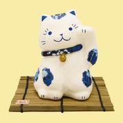 ちぎり和紙 藍柄招き猫