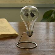 【Fun Science】ラジオメーター 電球☆太陽光で羽がまわる。