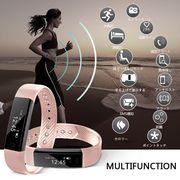 スマートブレスレットウエアラブル Bluetooth4.0 睡眠計 歩数計 心拍計 生活防水 運動