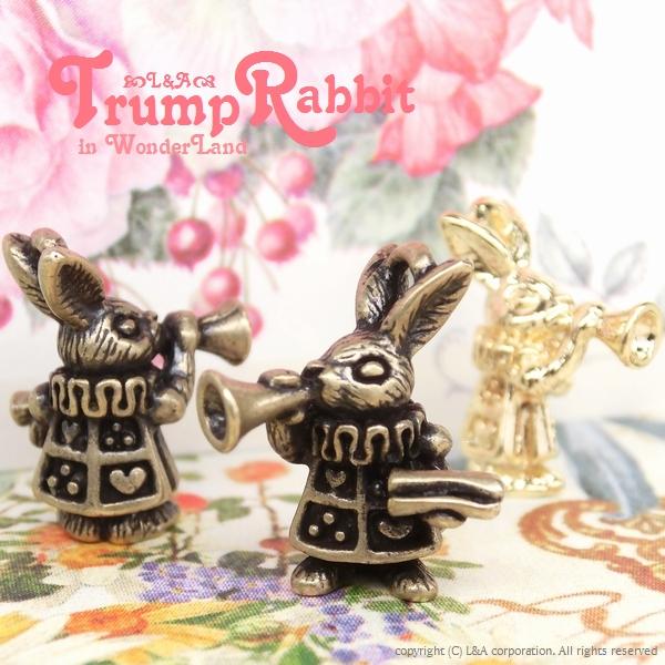 """▼SALE▼L&A Original Parts★かわいいトランプラビット★アリスの世界チャーム★""""Trump Rabbit"""""""