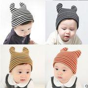 ★同梱でお買得★新作★耳帽子★ベビー帽子★可愛い帽子★耳付き★かっこいい★4色