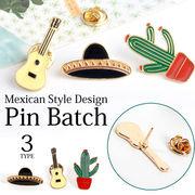 【即納】【小物】全3タイプ!!メキシコスタイルデザインピンバッチブローチ[kgd0572]