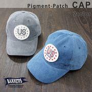 帽子 キャップ メンズ レディース ベースボールキャップ ピグメント ワッペン PENNANTBANNERS