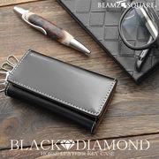 BEAMZSQUARE ブラックダイヤ馬革キーケース BZSQ-1734 BLACK★DIAMOND'series4連キーフック