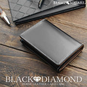 BEAMZSQUARE ブラックダイヤ馬革カードケース BZSQ-1735 BLACK★DIAMOND'series名刺入れ