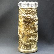【風水 開運 インテリア】銅製「七星昇り飛龍」 (水晶付き)