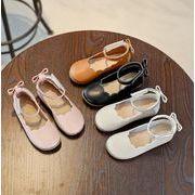 【子供靴】★可愛いデザインの子供靴&★ぺたんこ 暖かい★子供皮靴★女の子★4色Xサイズ21-36