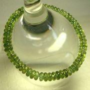 グリーン・アパタイト・ボタンカットブレスレット6.3mm