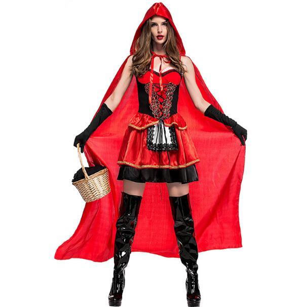 Halloween ハロウィン レッド ハロウィーン コスチューム レディースワンピース M-XL 3点セット