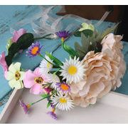 ハワイアン花冠 造花ヘッドドレス