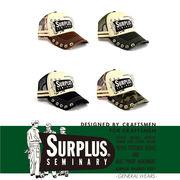 【2017春夏】『SURPLUS』5連ホール&ツバダメージ加工 プリント メッシュキャップ