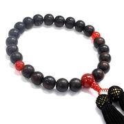 天然石 高品質 高級材 黒檀念珠・数珠 約13mm【FOREST 天然石 パワーストーン】