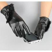 ★2017年新作★寒い冬★暖かい手袋★野外&冬防寒★レディース手袋★便利★皮手袋
