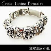 ステンレス ブレスレット メンズ レディース クロス 7連 ブレス 腕輪 シルバー アクセサリー