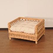 【ラタン家具】 ペットベッド ナチュラル (天然ラタン使用)(直送可能)