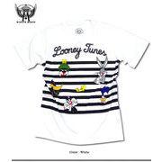 ★見ているだけで楽しくなる!人気アメコミ「ルーニー・テューンズ」のボーダープリントTシャツ★