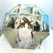 【長傘】【雨傘】マンハッタナーズ『ノートルダムの敬虔なフェデリコ』耐風骨手開き傘