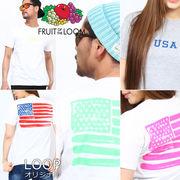 【2017SS新作】 FRUIT OF THE LOOM フルーツオブザルーム Tシャツ C / メンズ レディース USA 星条旗