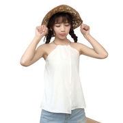 ホルターネック ホルタートップ 春夏 韓国風 ファッション 着やせ 何でも似合う アウト