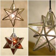 ★LED対応【 StarGlass Pendant Lamp 】★ヨーロッパステンド風★ペンダントランプ スターグラス ♪