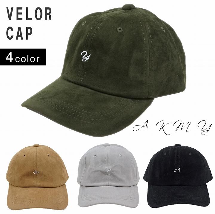 帽子 キャップ メンズ レディース 秋冬 ベロア 刺繍 ロゴ ワンポイント キーズ Keys
