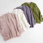 初回送料無料 2017 ゆったり セーター ニット ジャケット 全4色 Gjxyh-1709bac26 新作