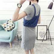 春 新しいデザイン 女性服 着やせ 着やせ 学生 何でも似合う ダブルポケット デニム