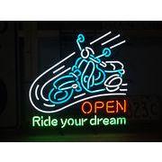 ネオンサイン【SCOOTER OPEN】スクーターオープン バイク